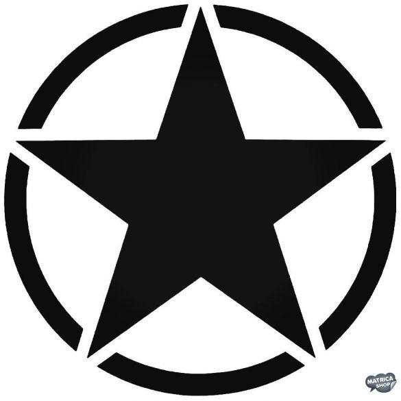 Katonai csillag tuning matrica (30x30 cm)