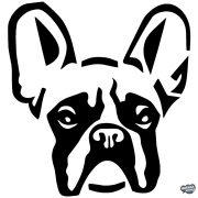 Francia bulldog matrica 2