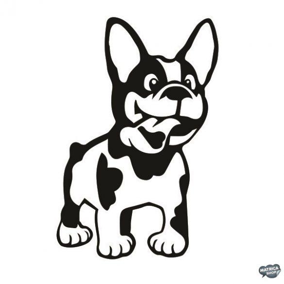 Francia bulldog matrica 9