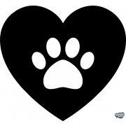 Kutyatappancs a szívben matrica