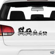 Halálfejes család matrica
