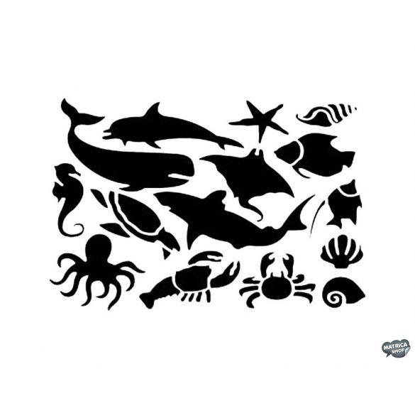 Tengeri állatok matrica