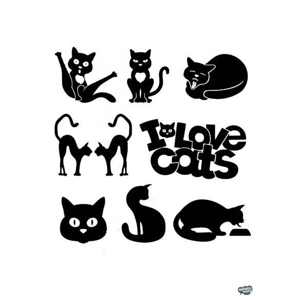 Vicces macskák matrica