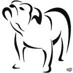 Angol Bulldog matrica 0