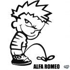 Calvin pisil Alfa Romeo - Szélvédő matrica