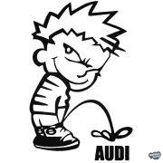 Calvin pisil Audit - Szélvédő matrica