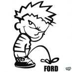 Calvin pisil Ford - Szélvédő matrica