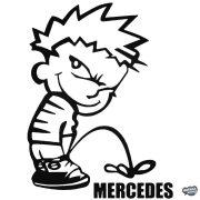 Calvin pisil Mercedes - Szélvédő matrica