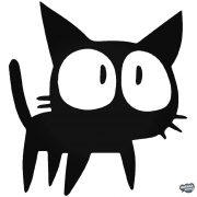 Nagy szemű kiscica matrica