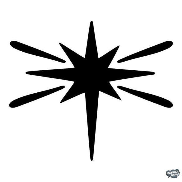 Csillagszóró matrica