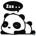Alvó cuki panda matrica