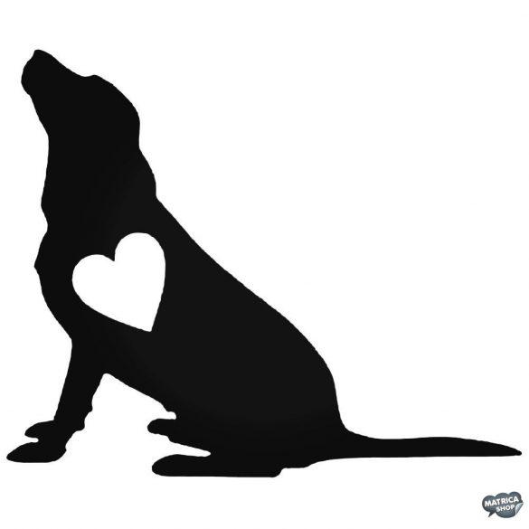 Kutya szívvel matrica