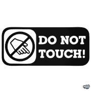 Do Not Touch! - Szélvédő matrica