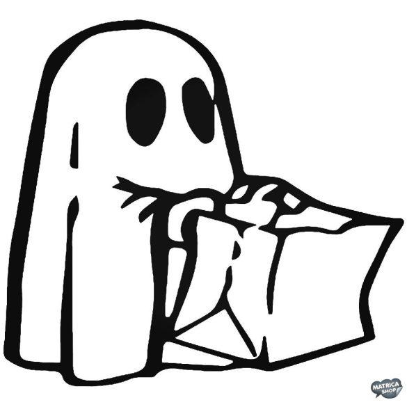 Halloween kicsi szellem matrica
