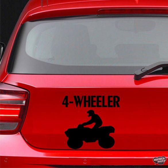 4-WHEELER - Szélvédő matrica
