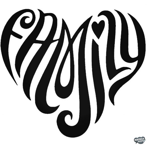 Family szív felirat - Autómatrica