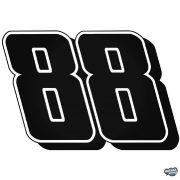 88 - Szélvédő matrica
