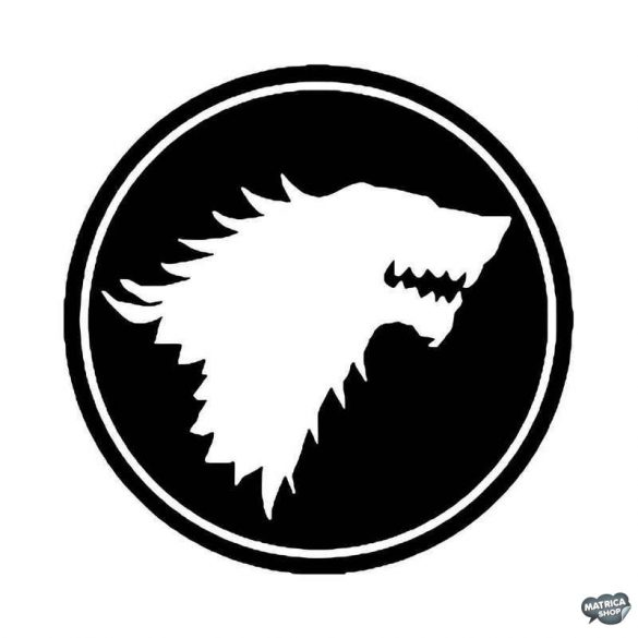 Game of Thrones Stark jelvény Autómatrica