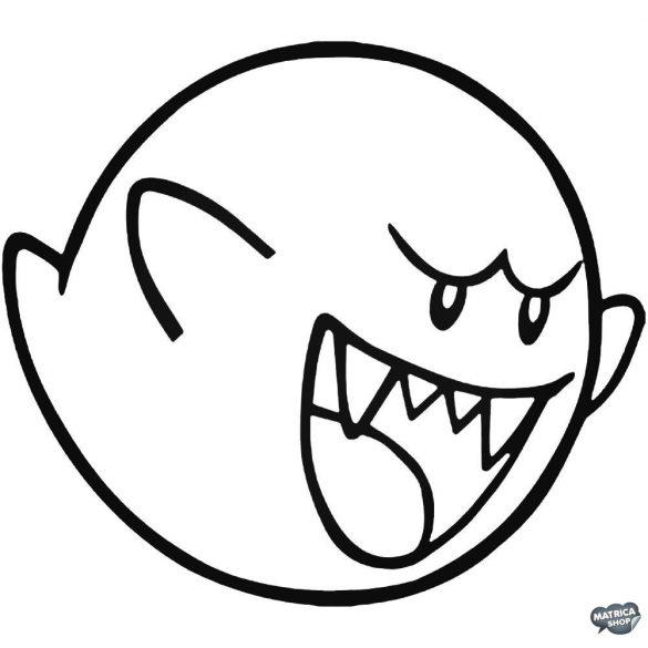 """Super Mario nagy szellem """"1"""" matrica"""