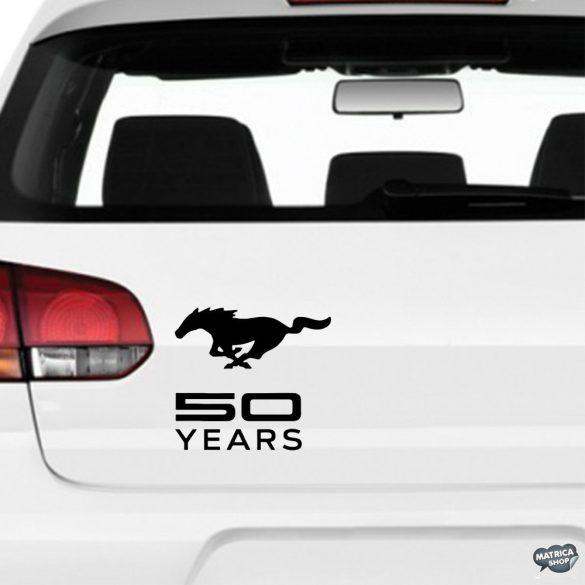 50 év Ford Mustang matrica