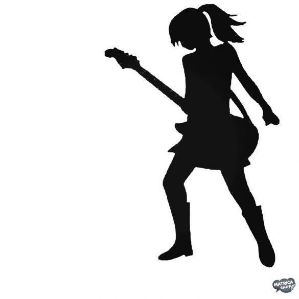 Csaj és elektromos gitár Autómatrica