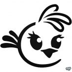 Lány madárka Angry Birds matrica