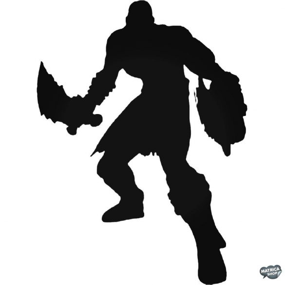 """God of War Kratos """"1"""" matrica"""