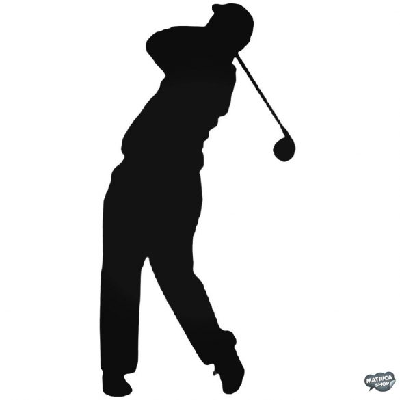 Elütött Labda golf matrica