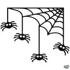 Halloween Pókok matrica