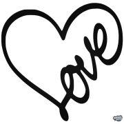 Love felirat a szívben - Autómatrica