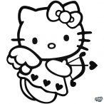 Hello Kitty matrica Cupido