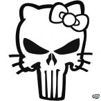Hello Kitty matrica Punisher