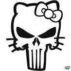 Hello Kitty matrica Punisher