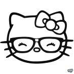 Hello Kitty matrica szemüveges