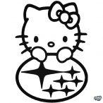 Hello Kitty Subaru matrica