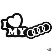 I Love My Audi matrica