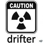 Caution drifter - Szélvédő matrica