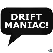 Dirft Maniac! - Szélvédő matrica