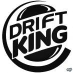 """Drift King """"1"""" - Szélvédő matrica"""