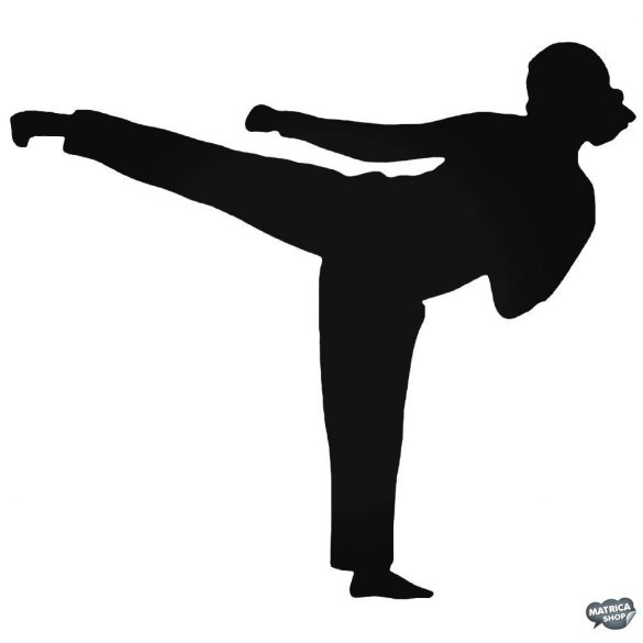 Karate lány matrica