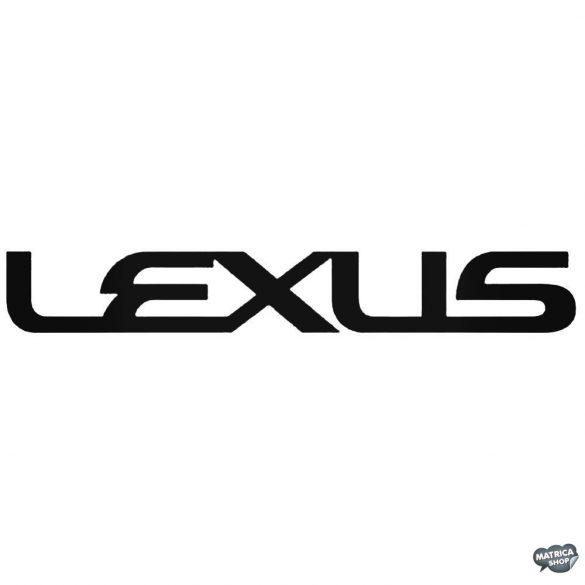 Lexus felirat matrica