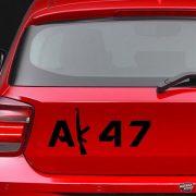 AK-47 szöveg Autómatrica