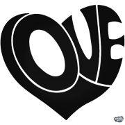 Szív Love feliratból - Autómatrica
