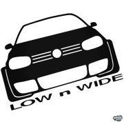 Volkswagen matrica Low and Wide