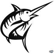 """Nyársorrú hal """"1"""" matrica"""