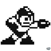 "Mega Man 8-bit ""1"" matrica"