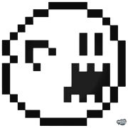 8-bit szellem Super Mario matrica
