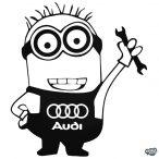 Audi matrica Minion szerelő