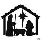 Karácsony Jézus születése matrica
