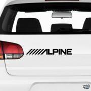 ALPINE - Szélvédő matrica